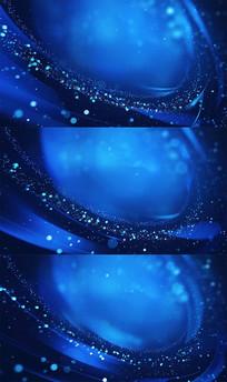 蓝色粒子光线特效背景视频素材