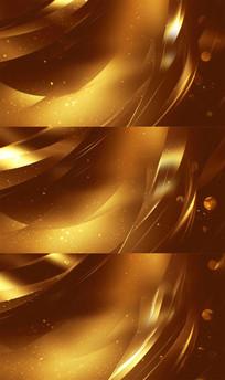 炫丽的金黄色光线粒子线条视频