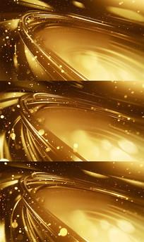炫丽金色粒子光线特效背景视频