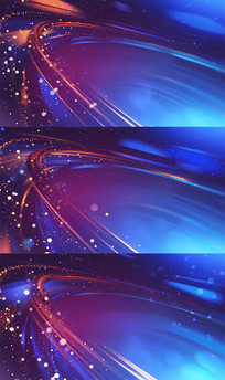 炫丽粒子光线特效红蓝背景视频