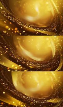 漂亮金黄色粒子光线特效视频