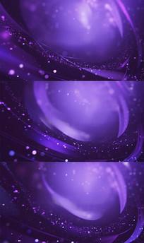 漂亮蓝紫色粒子光线背景视频