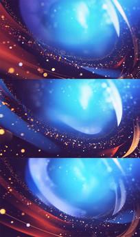 漂亮粒子光线红蓝背景视频素材
