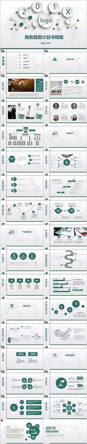 企业项目商务融资计划书ppt