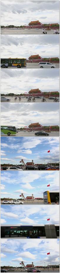 实拍北京天安门视频素材