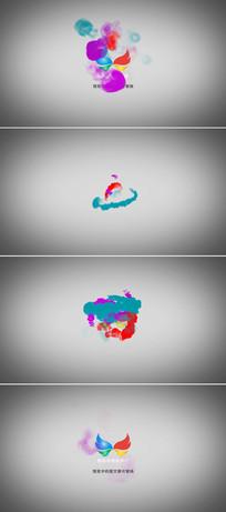 水墨中国风烟雾标志展示视频模板