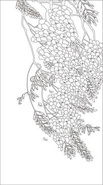 藤蔓鲜花雕刻图案