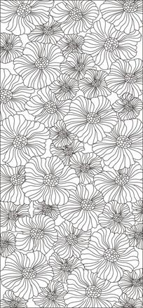 鲜花抽象现代雕刻图案