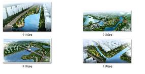 滨河绿地设计鸟瞰图