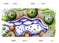滨水广场节点平面图