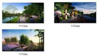 滨水景观设计透视效果图
