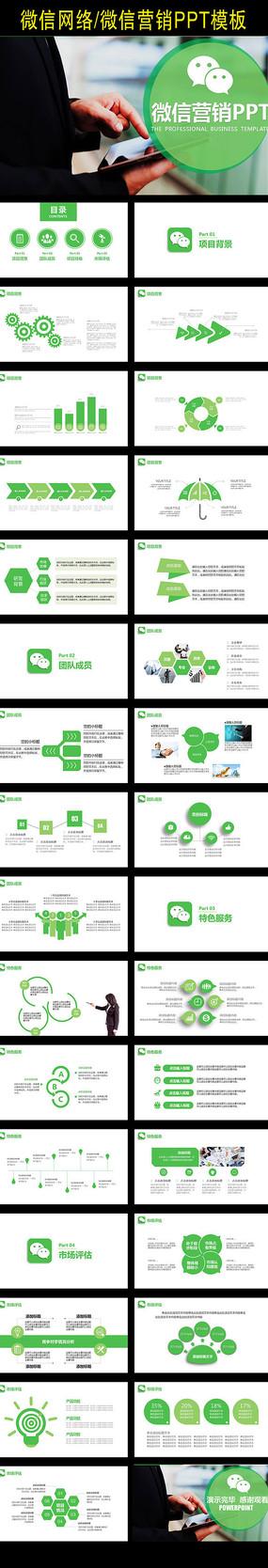 创意简约微商营销微信PPT