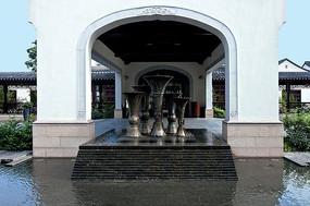 雕塑水景小品