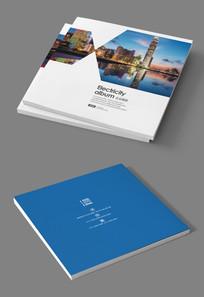 方形简约式企业画册封面