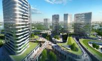 高层建筑绿化设计效果图