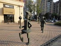 广场人物装置雕塑