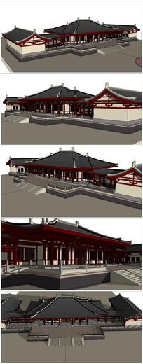 汉代宫阙建筑SU模型