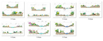 河道景观断面分析图