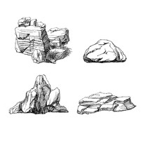 景观石头手绘线稿 JPG