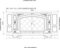 客厅大理石电视背景CAD图