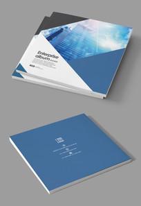 蓝色信息产品宣传册封面