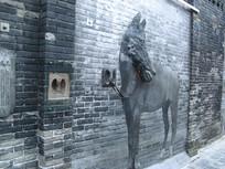 石质马造型浮雕 JPG