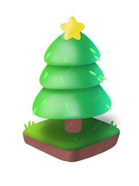 手绘圣诞树素材