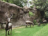 铜制小鹿雕塑