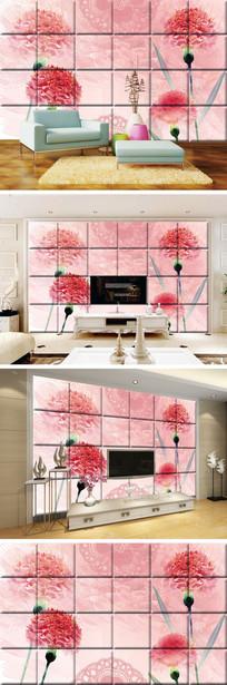 月季花瓷砖背景墙 TIF
