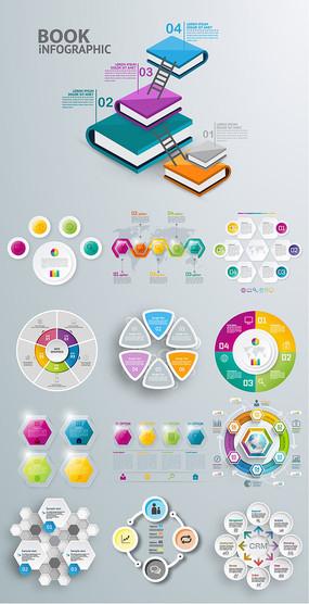 知识书本设计元素素材图片