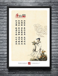 中国风廉政建设文化墙展板
