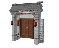 中式大门垂花门