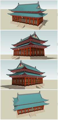中式古典宫殿SU模型