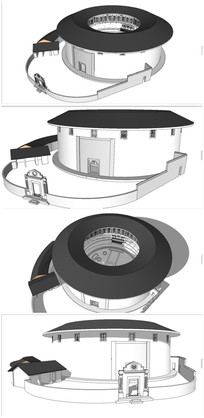 中式古建筑福建土楼SU模型