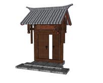 中式住宅庭院大门