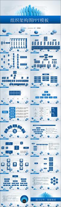 组织结构流程图PPT模版