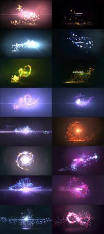9组炫酷发光粒子演绎标志片头视频