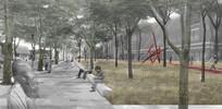 城市绿地效果图
