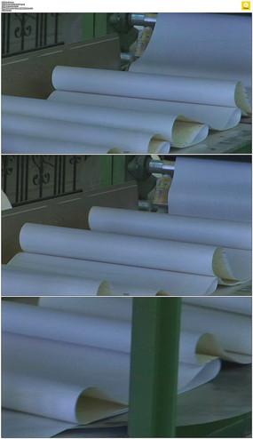 工厂生产壁纸实拍视频素材 mov