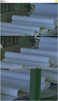 工厂生产壁纸实拍视频素材