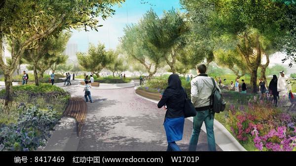 公园景观效果图图片