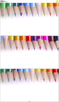 滚动的七彩铅笔实拍视频素材
