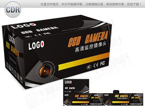 黑色背景监控摄像头包装