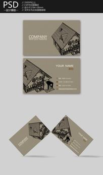 建筑工程师名片设计
