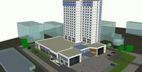 酒店高层模型