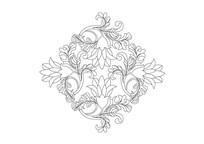 菱形兰花雕刻纹样 AI