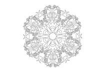 欧美华丽花卉旋转雕刻纹样