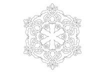 欧式抽象主义花瓣元素雕刻纹样