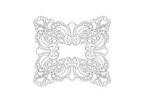 欧式古典花草元素雕刻纹样