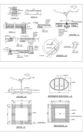 树池坐凳施工图 dwg